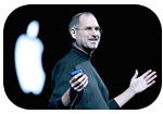 Steve Jobs giving MacWorld keynote