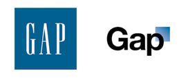 Gap logos, classic and new